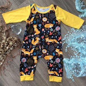 Boutique Unisex Baby Fox Romper
